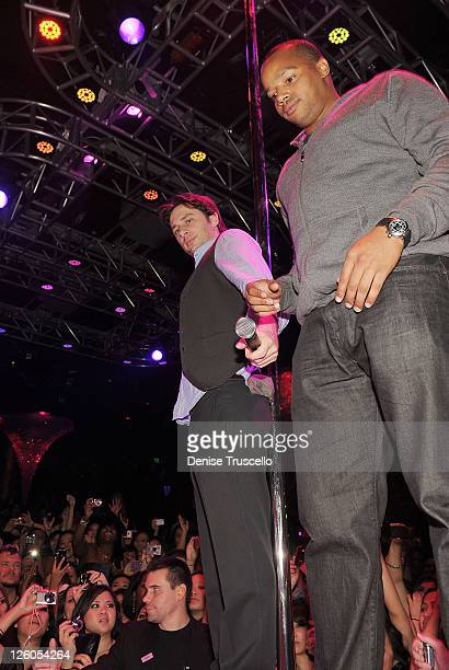 Zach Braff and Donald Faison attend NeYo's album release party at Haze Nightclub at CityCenter on December 11 2010 in Las Vegas Nevada