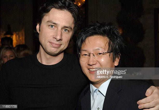 Zach Braff and Masi Oka during Esquire House and Johnnie Walker Blue Host 'Scrubs' Season Six Celebration Inside at Esquire House 360 in Beverly...