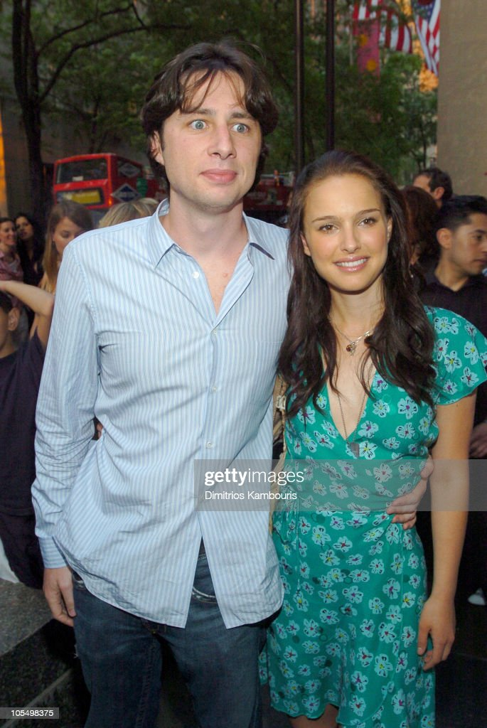 <a gi-track='captionPersonalityLinkClicked' href=/galleries/search?phrase=Zach+Braff&family=editorial&specificpeople=203253 ng-click='$event.stopPropagation()'>Zach Braff</a> and <a gi-track='captionPersonalityLinkClicked' href=/galleries/search?phrase=Natalie+Portman&family=editorial&specificpeople=202035 ng-click='$event.stopPropagation()'>Natalie Portman</a> during IFP/New York and InStyle Host Drive-In Movies at Rockefeller Center at Rockefeller Center in New York City, New York, United States.