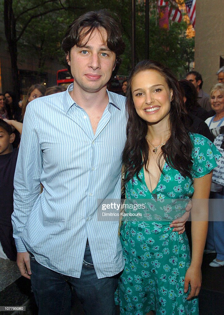 <a gi-track='captionPersonalityLinkClicked' href=/galleries/search?phrase=Zach+Braff&family=editorial&specificpeople=203253 ng-click='$event.stopPropagation()'>Zach Braff</a> and <a gi-track='captionPersonalityLinkClicked' href=/galleries/search?phrase=Natalie+Portman&family=editorial&specificpeople=202035 ng-click='$event.stopPropagation()'>Natalie Portman</a>