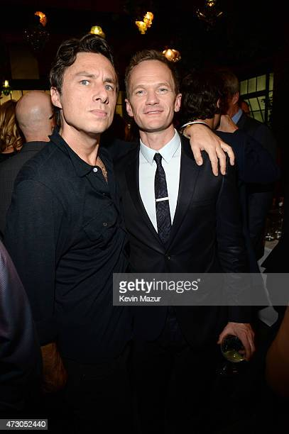 Zach Braff and Neil Patrick Harris attend 2015 CAA Upfronts Celebration Party on May 11 2015 in New York City