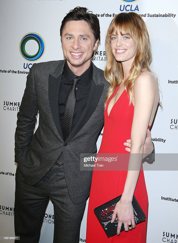 Zach Braff (L) and Taylor Bagley arrive at the 2nd annual an Evening of Environmental Excellence Gala held at a private residence on March 5, 2013 in Beverly Hills, California.