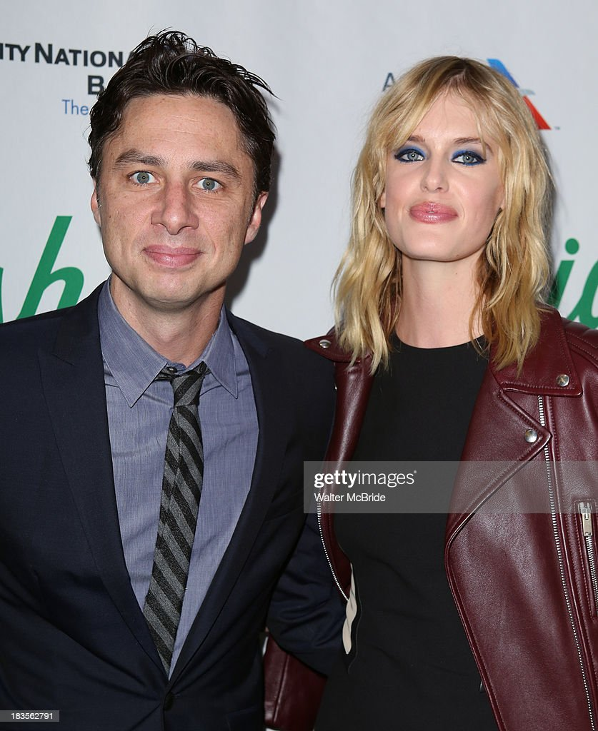 <a gi-track='captionPersonalityLinkClicked' href=/galleries/search?phrase=Zach+Braff&family=editorial&specificpeople=203253 ng-click='$event.stopPropagation()'>Zach Braff</a> and Taylor Bagley attends the 'Big Fish' Broadway Opening Night at Neil Simon Theatre on October 6, 2013 in New York City.