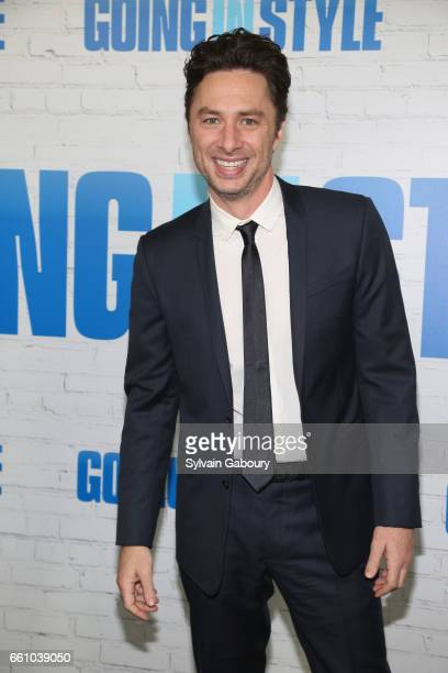 Zach Braff attends 'Going in Style' World Premiere at SVA Theatre on March 30 2017 in New York City