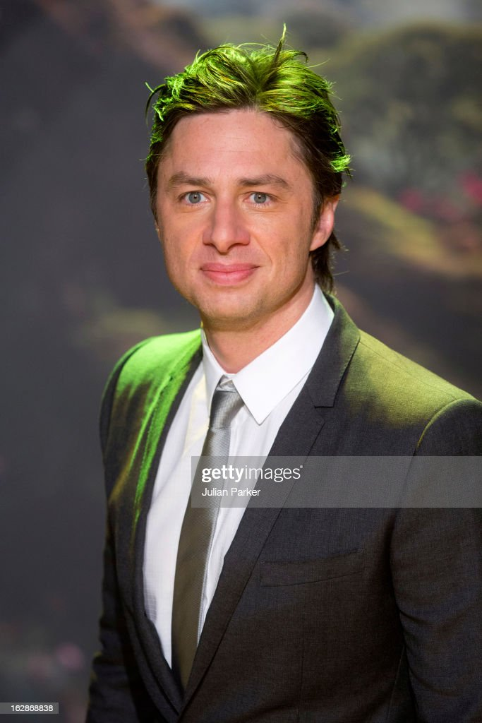 Zach Braff attends the European Premiere of 'Oz: The Great and Powerful', the at Empire Leicester Square on February 28, 2013 in London, England.