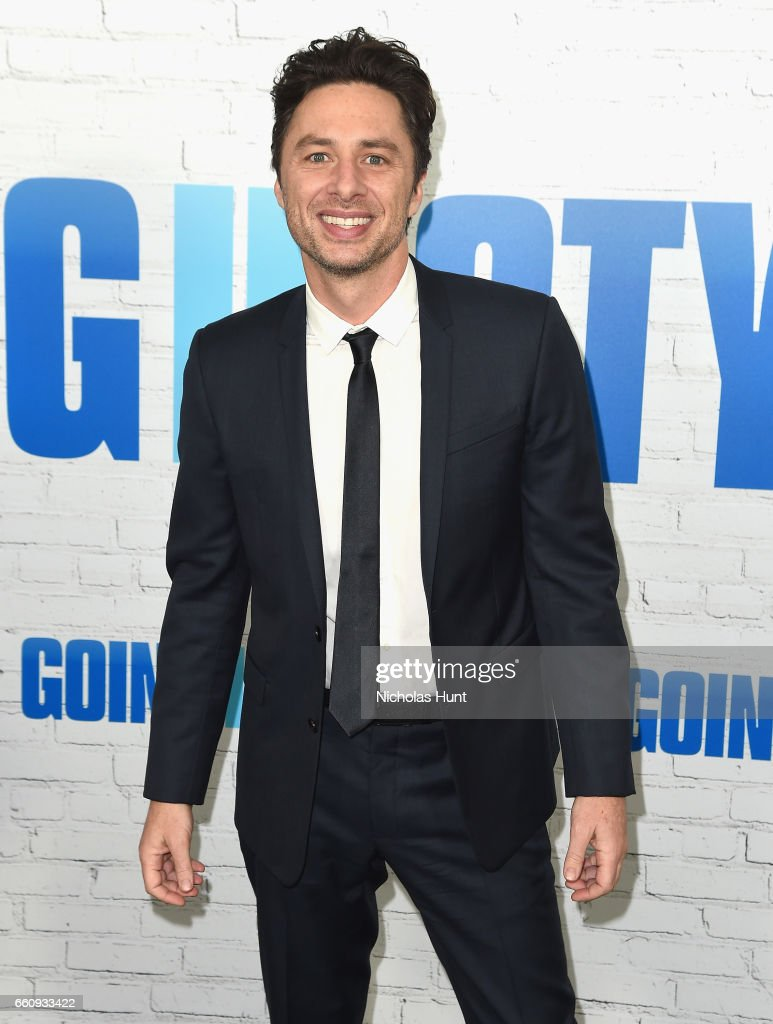 Zach Braff attends the 'Going In Style' New York Premiere at SVA Theatre on March 30, 2017 in New York City.