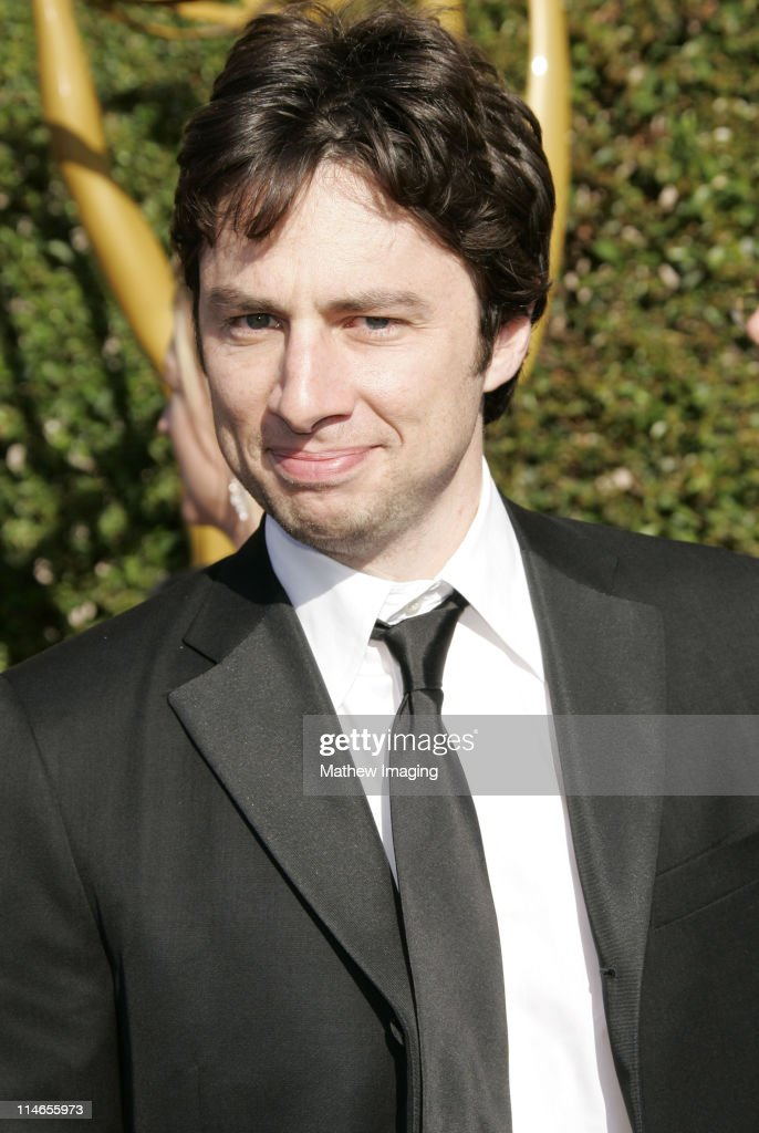 Zach Braff during 57th Annual Primetime Creative Arts EMMY Awards - Arrivals & Red Carpet at Shrine Auditorium in Los Angeles, California, United States.