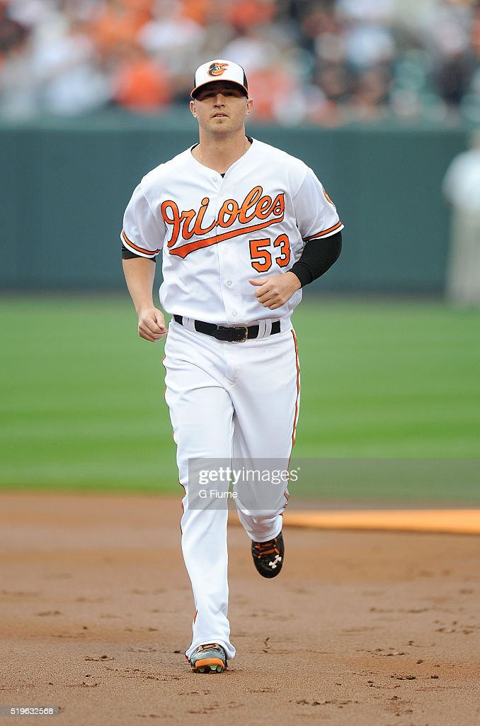 <a gi-track='captionPersonalityLinkClicked' href=/galleries/search?phrase=Zach+Britton&family=editorial&specificpeople=7091505 ng-click='$event.stopPropagation()'>Zach Britton</a> #53 of the Baltimore Orioles is introduced before the game against the Minnesota Twins at Oriole Park at Camden Yards on April 4, 2016 in Baltimore, Maryland.