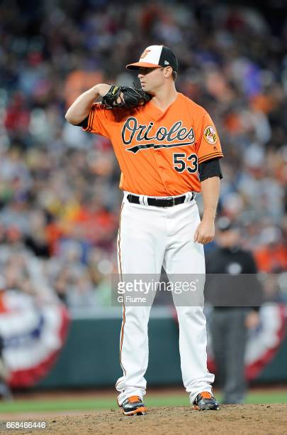 Zach Britton of the Baltimore Orioles pitches against the New York Yankees at Oriole Park at Camden Yards on April 8 2017 in Baltimore Maryland Zach...