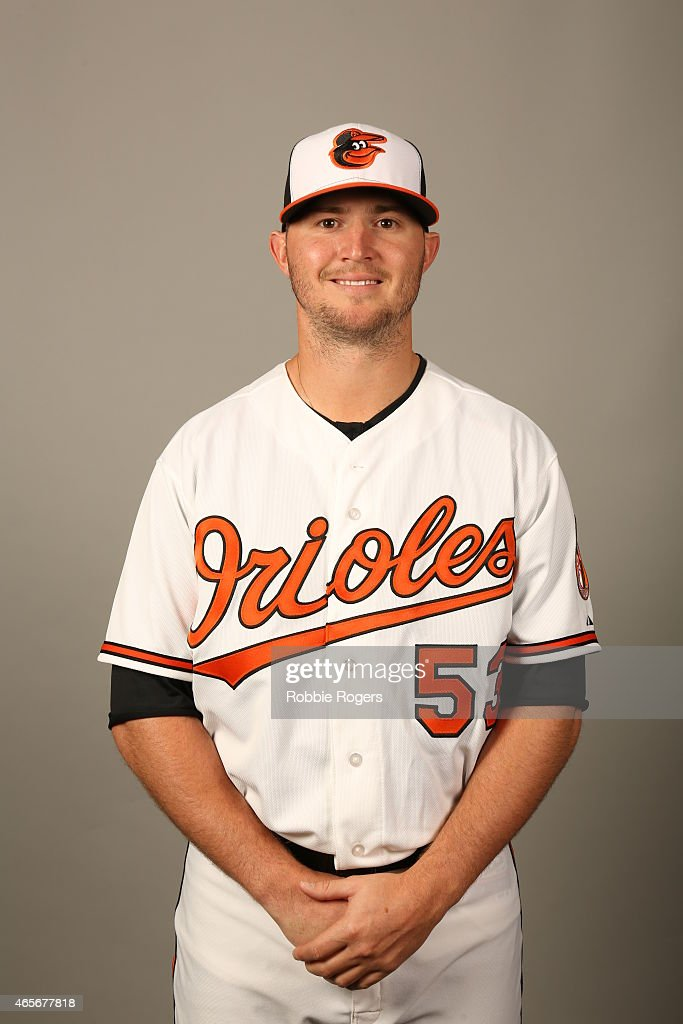 <a gi-track='captionPersonalityLinkClicked' href=/galleries/search?phrase=Zach+Britton&family=editorial&specificpeople=7091505 ng-click='$event.stopPropagation()'>Zach Britton</a> #53 of the Baltimore Orioles poses during Photo Day on Sunday, March 1, 2015 at Ed Smith Stadium in Sarasota, Florida.