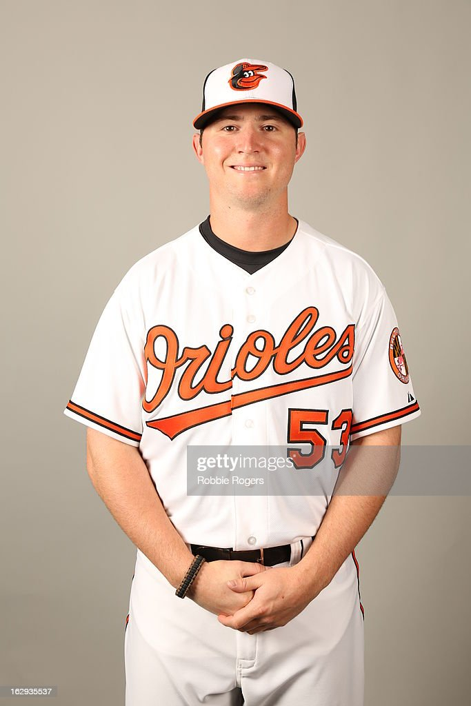 <a gi-track='captionPersonalityLinkClicked' href=/galleries/search?phrase=Zach+Britton&family=editorial&specificpeople=7091505 ng-click='$event.stopPropagation()'>Zach Britton</a> #53 of the Baltimore Orioles poses during Photo Day on February 22, 2013 at Ed Smith Stadium in Sarasota, Florida.