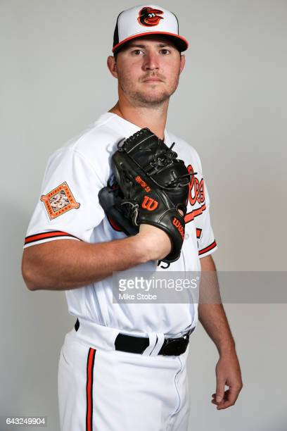 Zach Britton of the Baltimore Orioles poses for a portait during a MLB photo day at Ed Smith Stadium on February 20 2017 in Sarasota Florida