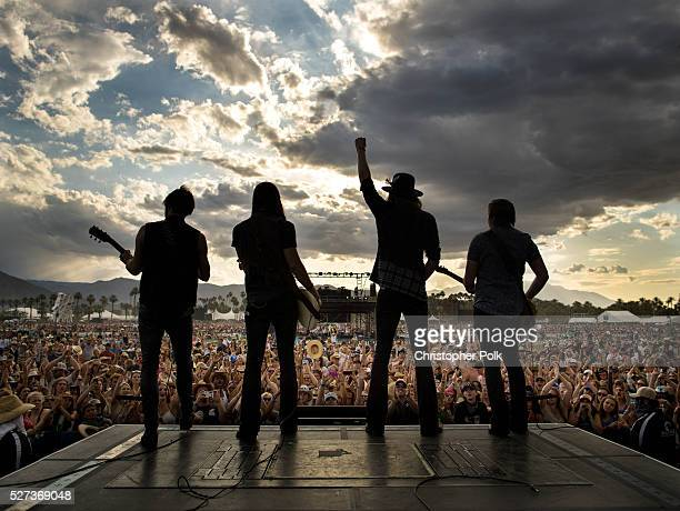 Zach Brown Graham Deloach Michael Hobby and Bill Satcher of A Thousand Horses performs onstage during 2016 Stagecoach California's Country Music...