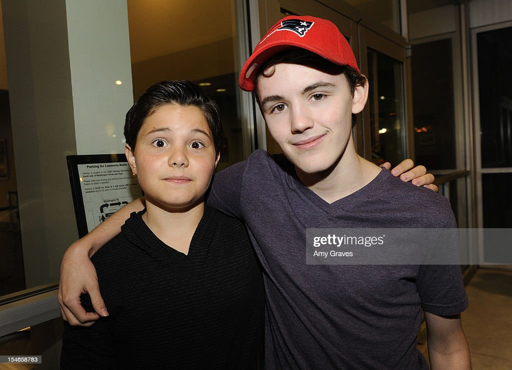 Zach Callison (L) and Garrett Palmer attend the 'Rock Jocks' Screening to Celebrate Zach Callison's 15th Birthday on October 23, 2012 in Hollywood, California.