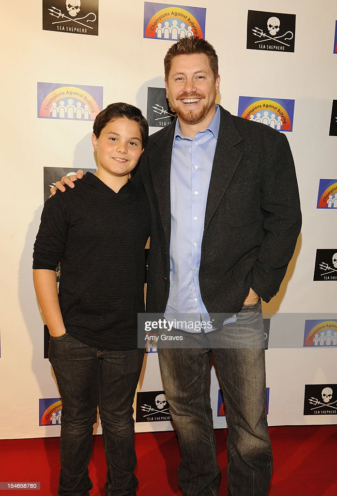 Zach Callison (L) and Tony Gonzales attend the 'Rock Jocks' Screening to Celebrate Zach Callison's 15th Birthday on October 23, 2012 in Hollywood, California.