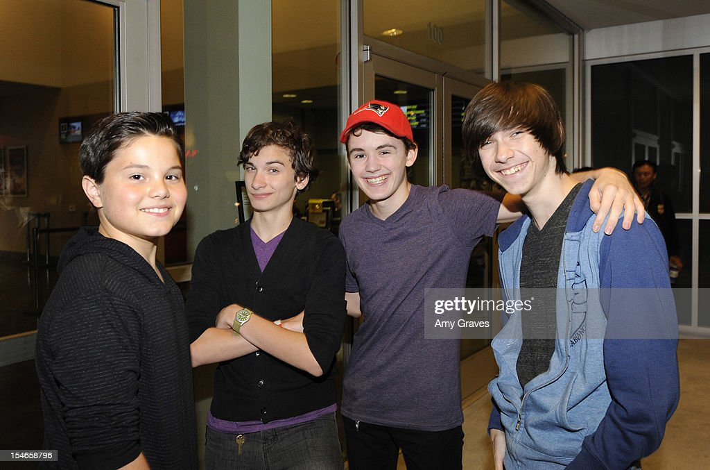 Zach Callison, Andy Scott Harris, Garrett Palmer and Jake Radaker attend the 'Rock Jocks' Screening to Celebrate Zach Callison's 15th Birthday on October 23, 2012 in Hollywood, California.