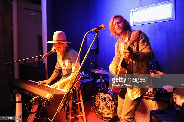 Zach Chance and Jonathan Clay of Jamestown Revival perform at Music Lodge Hosts MTV Interview Studio Day 2 on January 25 2015 in Park City Utah
