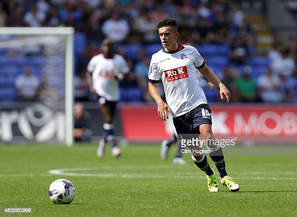 Zach Clough of Bolton Wanderers during the Sky Bet Championship match between Bolton Wanderers and Derby County at the Macron Stadium on August 8...