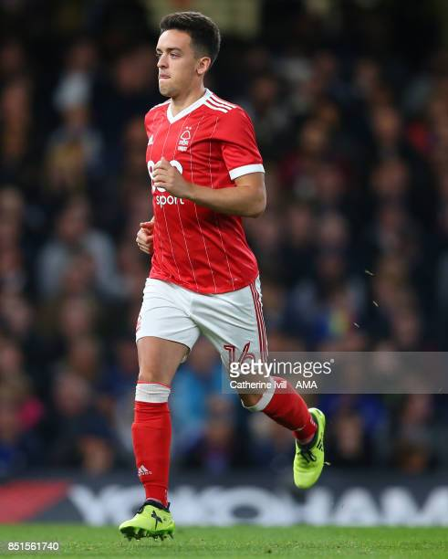 Zach Clough of Nottingham Forest during the Carabao Cup Third Round match between Chelsea and Nottingham Forest at Stamford Bridge on September 20...