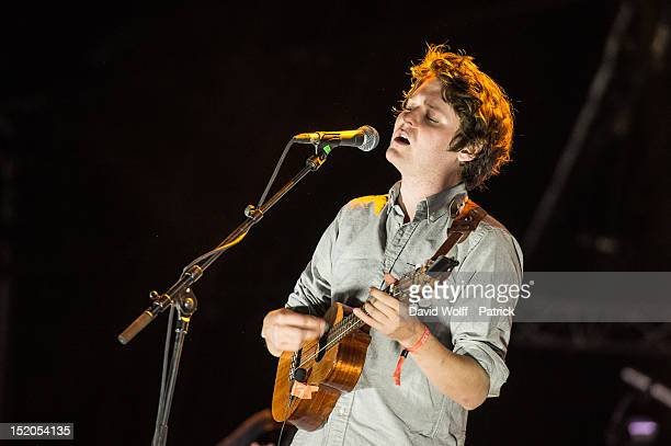 Zach Condon from Beirut performs at We Love Green Festival at Parc de Bagatelle on September 15 2012 in Paris France