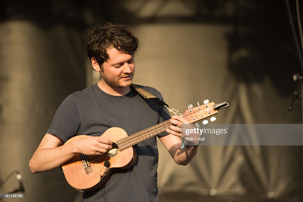 Zach Condon of Beirut performs at the Pemberton Music Festical on July 16 2015 in Pemberton Canada