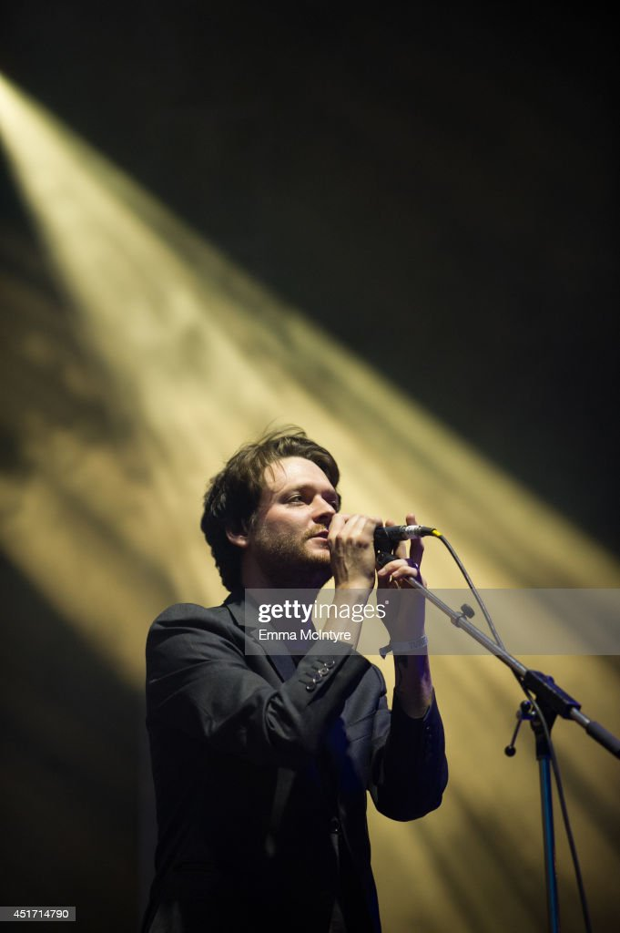 Zach Condon of Beirut performs during the TURF music festival at Garrison Commons on July 4 2014 in Toronto Canada