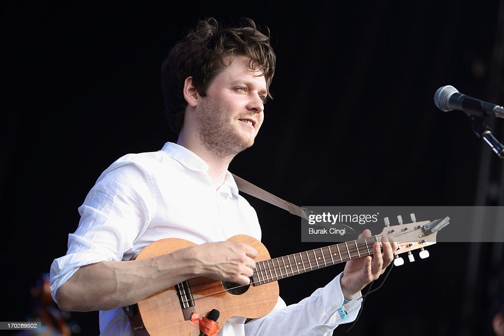 Zach Condon of Beirut performs on stage on Day 3 of The Governors Ball Music Festival at Randall's Island on June 9 2013 in New York City