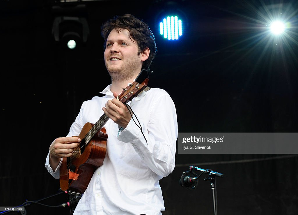 Zach Condon of the band Beirut performs during 2013 Governors Ball Music Festival at Randall's Island on June 9 2013 in New York City