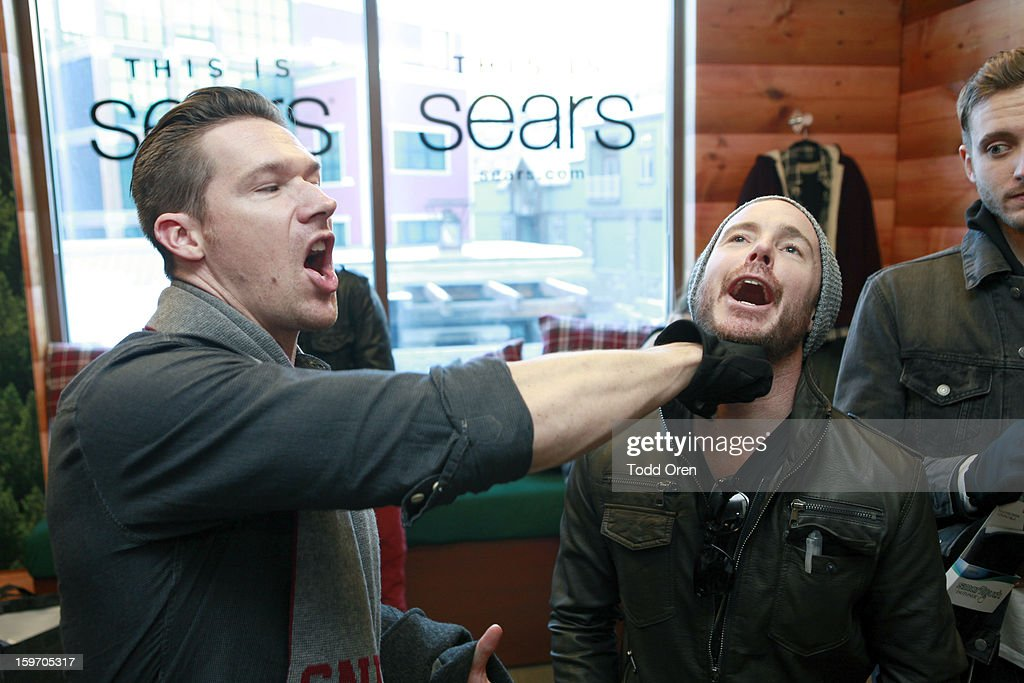 Zach Filkins and Eddie Fisher of OneRepublic attend Sears Shop Your Way Digital Recharge Lounge on January 18, 2013 in Park City, Utah.