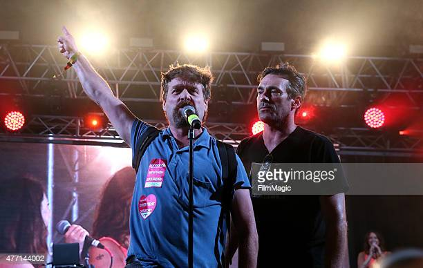 Zach Galifianakis and actor Jon Hamm perform onstage at the Comedy Theatre during Day 3 of the 2015 Bonnaroo Music And Arts Festival on June 13 2015...