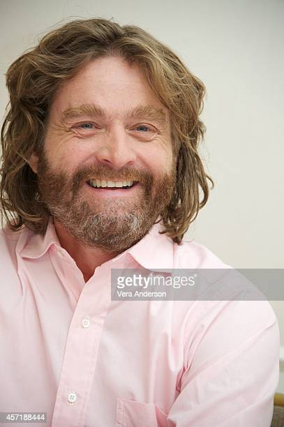 Zach Galifianakis at the 'Birdman' Press Conference at The New York Palace Hotel on October 13 2014 in New York City