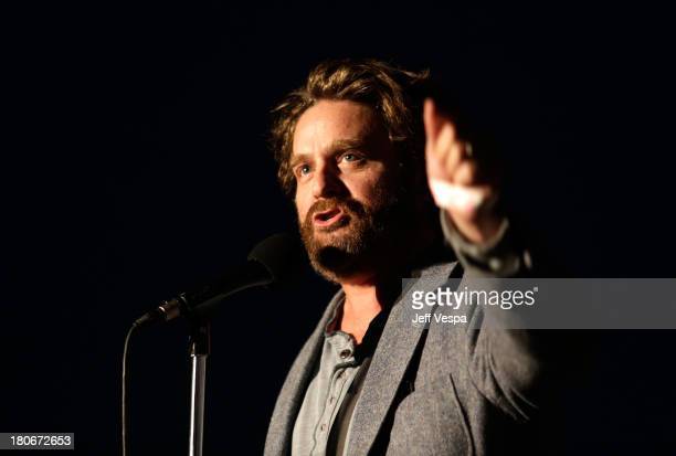 Zach Galifianakis attends Eddie Vedder and Zach Galifianakis Rock Malibu Fundraiser for EBMRF and Heal EB on September 15 2013 in Malibu California