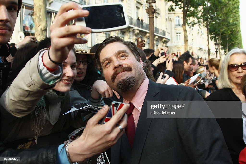 <a gi-track='captionPersonalityLinkClicked' href=/galleries/search?phrase=Zach+Galifianakis&family=editorial&specificpeople=2154769 ng-click='$event.stopPropagation()'>Zach Galifianakis</a> attends 'Hangover - Very Bad Trip III' ('The Hangover Part III') Paris premiere at Cinema UGC Normandie on May 27, 2013 in Paris, France.