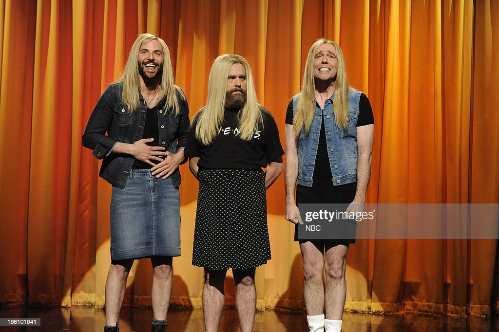 LIVE -- 'Zach Galifianakis' Episode 1639 -- Pictured: (l-r) Bradley Cooper, Zach Galifianakis and Ed Helms during a skit on May 4, 2013 --