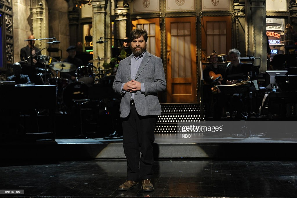 LIVE -- '<a gi-track='captionPersonalityLinkClicked' href=/galleries/search?phrase=Zach+Galifianakis&family=editorial&specificpeople=2154769 ng-click='$event.stopPropagation()'>Zach Galifianakis</a>' Episode 1639 -- Pictured: Host <a gi-track='captionPersonalityLinkClicked' href=/galleries/search?phrase=Zach+Galifianakis&family=editorial&specificpeople=2154769 ng-click='$event.stopPropagation()'>Zach Galifianakis</a> on May 4, 2013 --