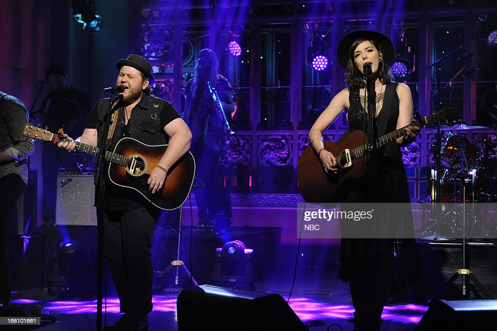 LIVE -- 'Zach Galifianakis' Episode 1639 -- Pictured: Musical guest Of Monsters and Men performs on May 4, 2013 --