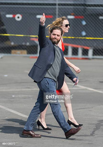 Zach Galifianakis is seen in Santa Monica on February 21 2015 in Los Angeles California