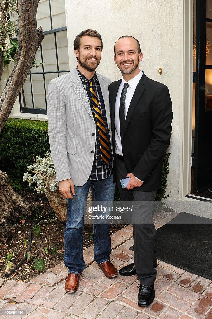 Zach Graff and Rich Pedine attend LCDQ La Cienega Design Quarter Legends 2013 Time Capsule Gala at Therien & Co on May 8, 2013 in Los Angeles, California.