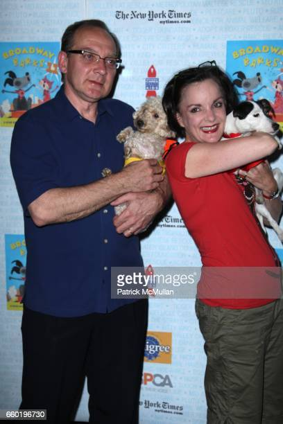Zach Grenier Jennifer Smith and attend BROADWAY BARKS 11 a PAWPULAR Star Studded Dog and Cat Adopta Thon at Shubert Alley on July 11 2009 in New York...