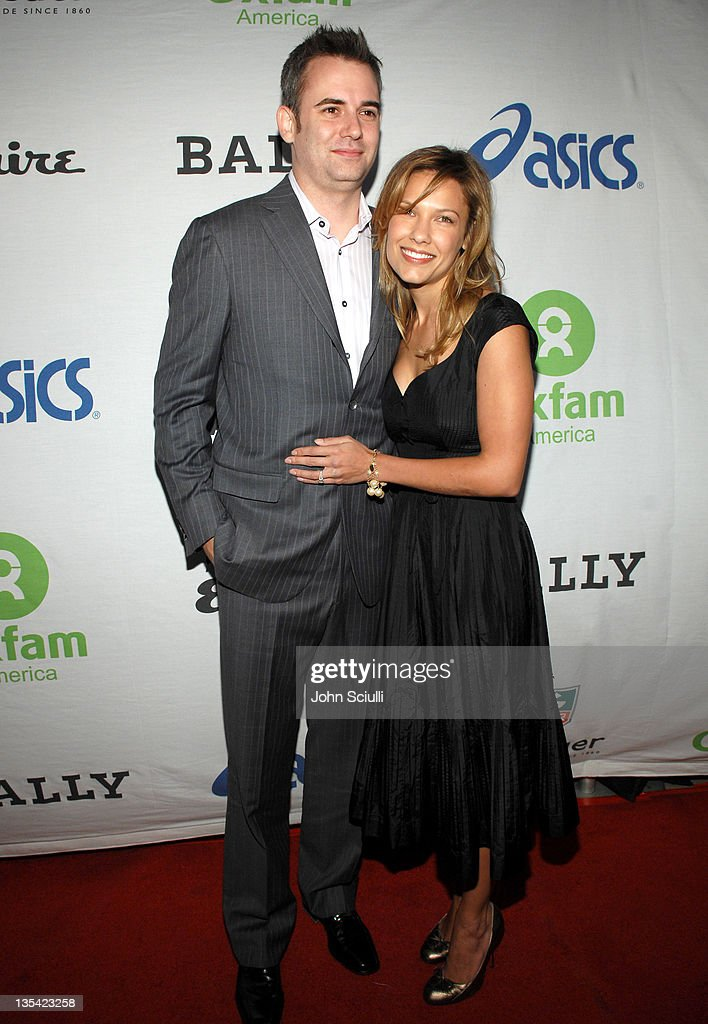 Zach Helm and Kiele Sanchez during Esquire House 360 Hosts Annual Cocktail Party for Oxfam Red Carpet at Esquire House in Beverly Hills California...
