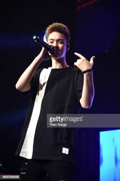 Zach Herron of Why Don't We performs at Z100's Jingle Ball 2017 on December 8 2017 in New York City