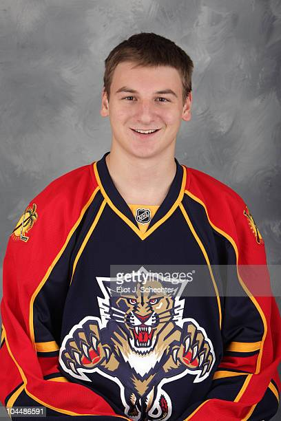 Zach Hyman of the Florida Panthers poses for his official headshot for the 20102011 NHL season on September 11 2010 in Sunrise Florida