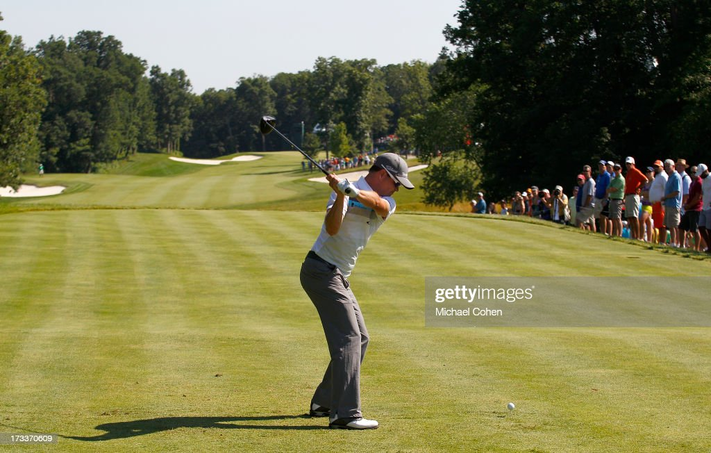 <a gi-track='captionPersonalityLinkClicked' href=/galleries/search?phrase=Zach+Johnson+-+Golfer&family=editorial&specificpeople=217976 ng-click='$event.stopPropagation()'>Zach Johnson</a> hits his drive on the 15th hole during the second round of the John Deere Classic held at TPC Deere Run on July 12, 2013 in Silvis, Illinois.