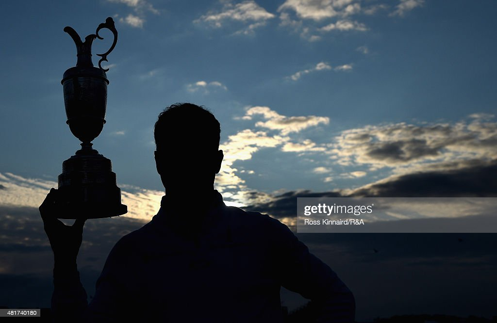 Zach Johnson of the United States celebrates with the Claret Jug after winning during the play off of the 144th Open Championship at The Old Course on July 20, 2015 in St Andrews, Scotland.