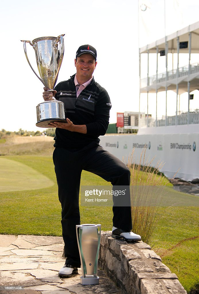 <a gi-track='captionPersonalityLinkClicked' href=/galleries/search?phrase=Zach+Johnson+-+Golfer&family=editorial&specificpeople=217976 ng-click='$event.stopPropagation()'>Zach Johnson</a> poses with the J.K. Wadley Trophy and BMW Trophy after his win of the 2013 BMW Championship at Conway Farms Golf Club on September 16, 2013 in Lake Forest, Illinois.