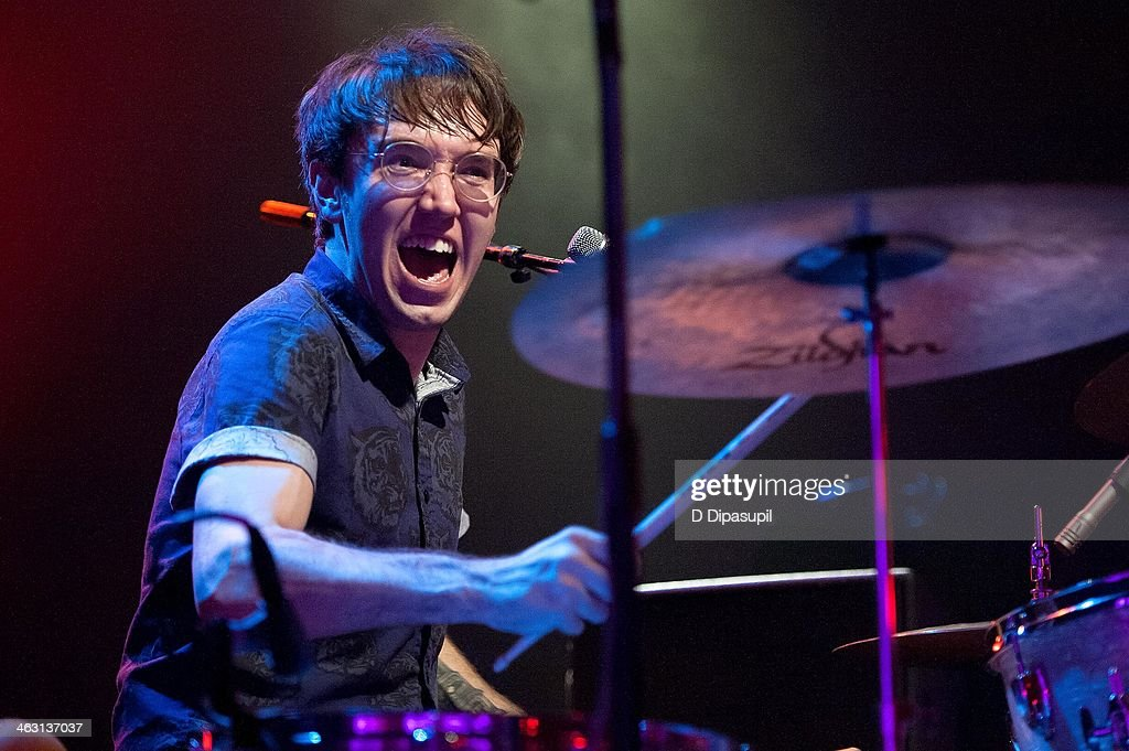 Zach Jones of Secret Someones performs at Highline Ballroom on January 16, 2014 in New York City.