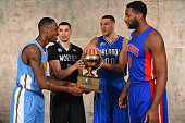 Zach LaVine of the Minnesota Timberwolves Aaron Gordon of the Orlando Magic Will Barton of the Denver Nuggets and Andre Drummond the Detroit Pistons...