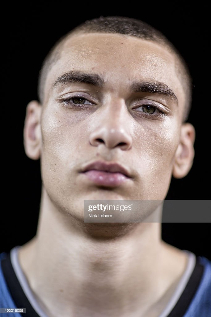 <a gi-track='captionPersonalityLinkClicked' href=/galleries/search?phrase=Zach+LaVine&family=editorial&specificpeople=11631430 ng-click='$event.stopPropagation()'>Zach LaVine</a> #8 of the Minnesota Timberwolves poses for a portrait during the 2014 NBA rookie photo shoot at MSG Training Center on August 3, 2014 in Tarrytown, New York.