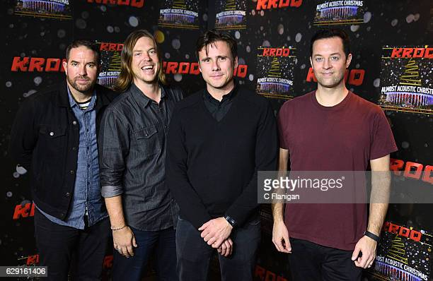 Zach Lind Rich Burch Jim Adkins and Tom Linton of the band Jimmy Eat World attend 1067 KROQ Almost Acoustic Christmas 2016 Night 1 at The Forum on...
