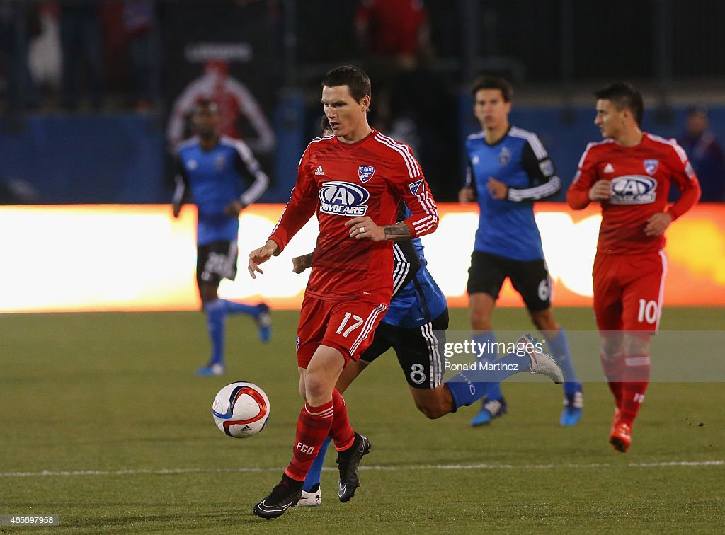 Zach Loyd #17 of FC Dallas at Toyota Stadium on March 7, 2015 in Frisco, Texas.